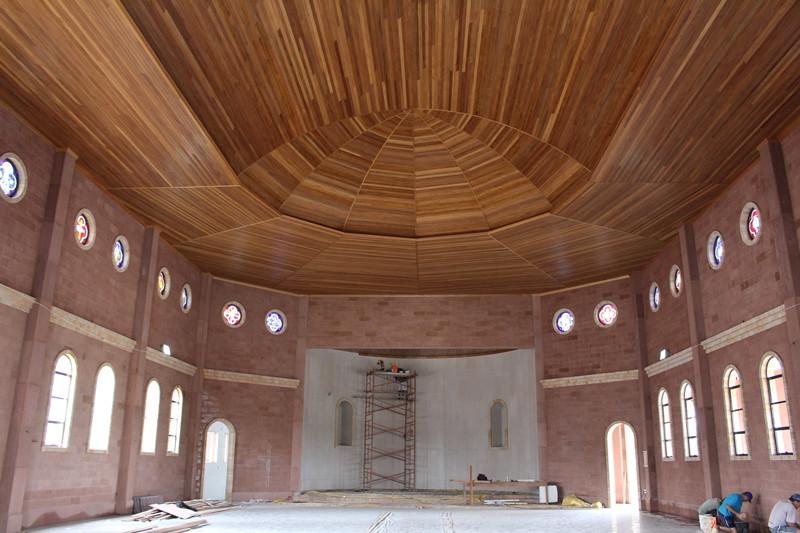 Santuário terá capacidade para 400 pessoas sentadas. Foto: Amanda Fetzner Efrom