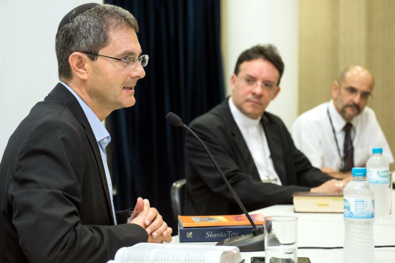 Rabino Guershon e Dom Leomar. Foto: Bruno Todeschini – Ascom/PUCRS