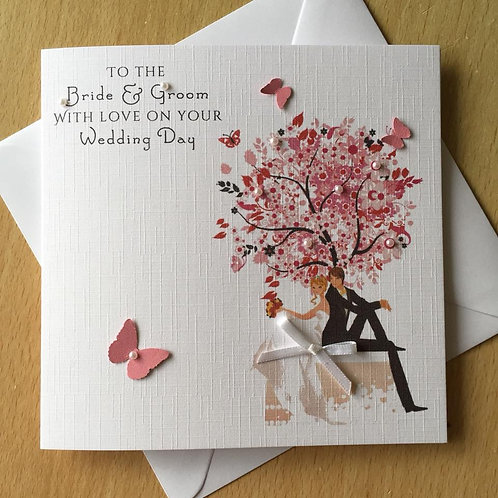 Wedding Day Congratulations Card - Wedding Tree