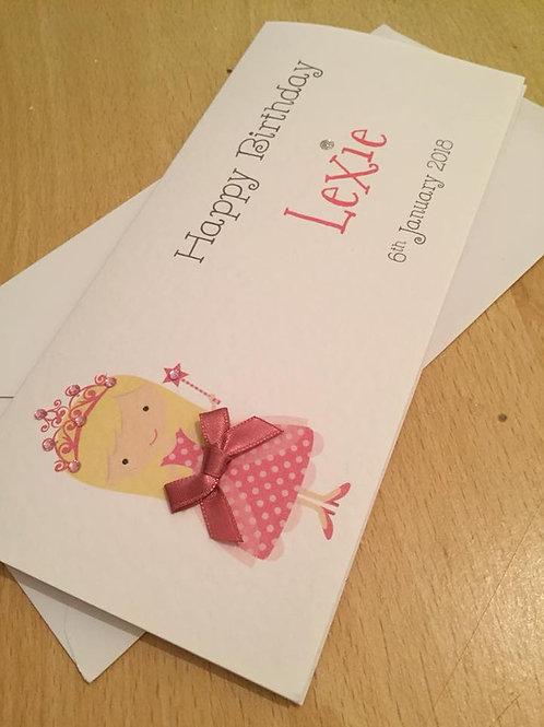Gift / Money Wallet - Pink Princess