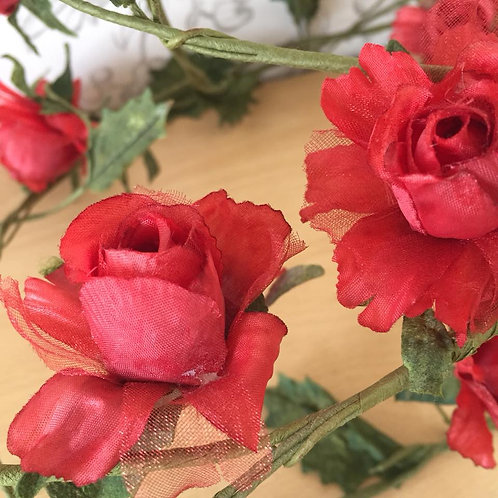 Rose Garland - Artificial Flowers - Red