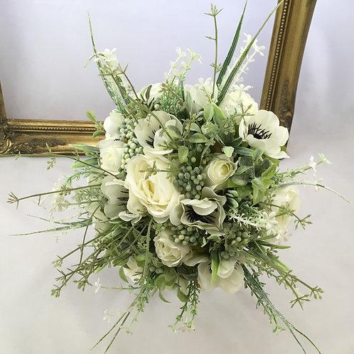 Wedding Bouquet - Lillie - Anemone & Foliage