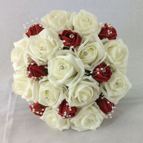 Wedding Bouquet - Princess Posy with Pearls - Medium