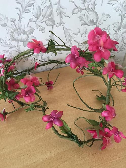 Jasmine Garland - Artificial Flowers - Fuchsia Pink
