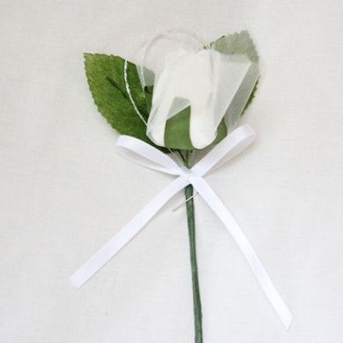 Wedding Buttonhole - Single Shimmer Rose