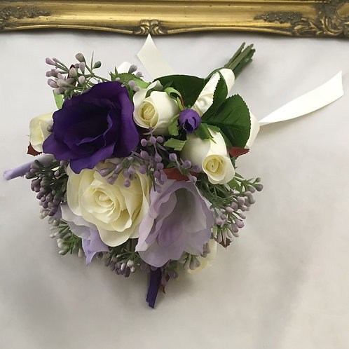 Wedding Bouquet - Florence - Silk Rose, Lysianthus & Berries - Small