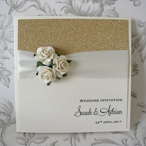 Wedding Invitation - Marie -Three Roses