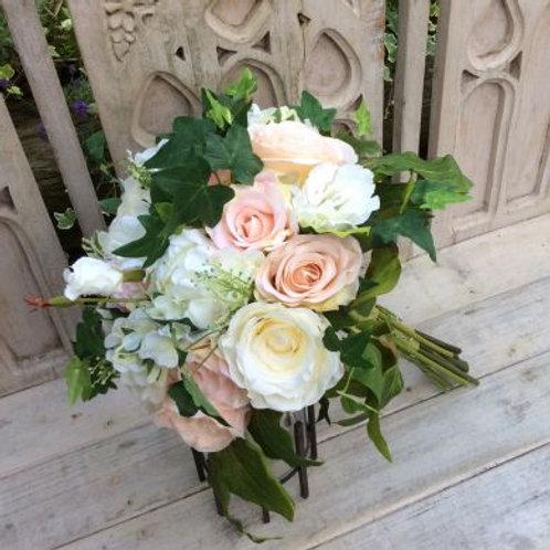Wedding Bouquet - Louisa - Silk Rose, Peony, Hydrangea & Ivy