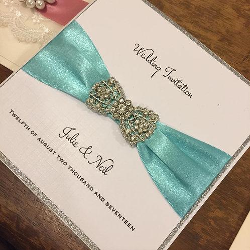 Wedding Invitation - Imogen - Diamante Bow