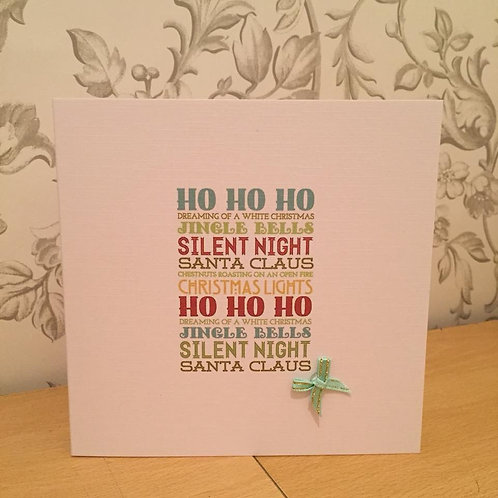 Christmas Card - Personalised - Christmas Words Plaque