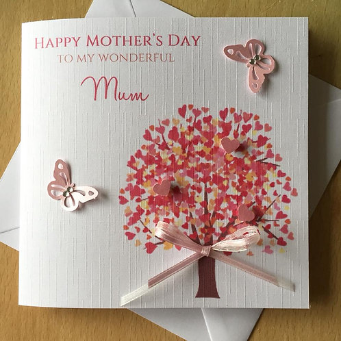 Heart Tree - Handmade Mother's Day Card