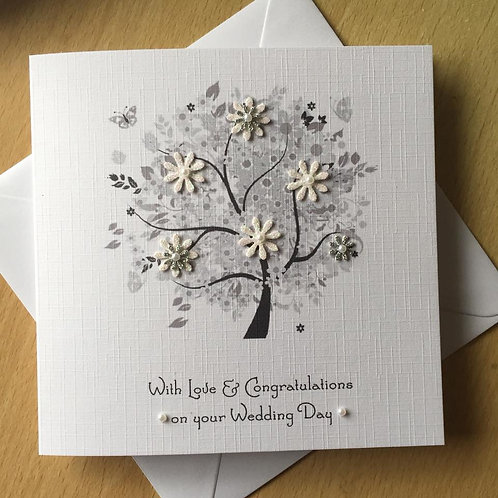 Wedding Tree - Wedding Day Congratulations Card