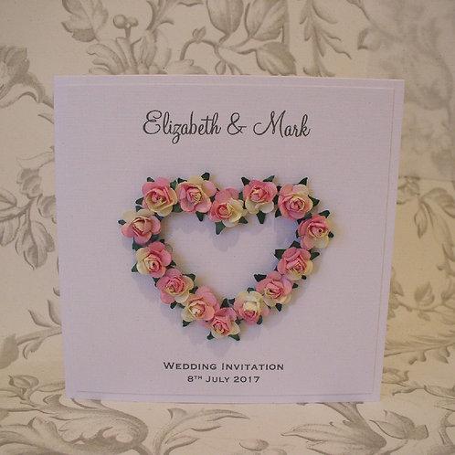Wedding Invitation - Rose Heart