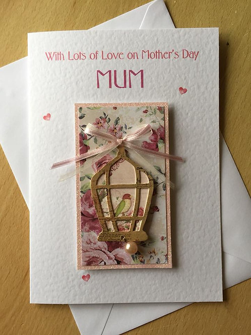 Mother's Day Card - Luxury Birdcage - A5
