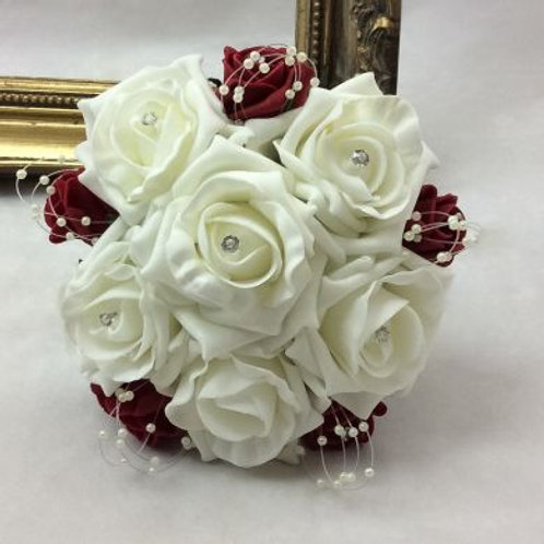 Wedding Bouquet - Princess Posy with Pearls - Small