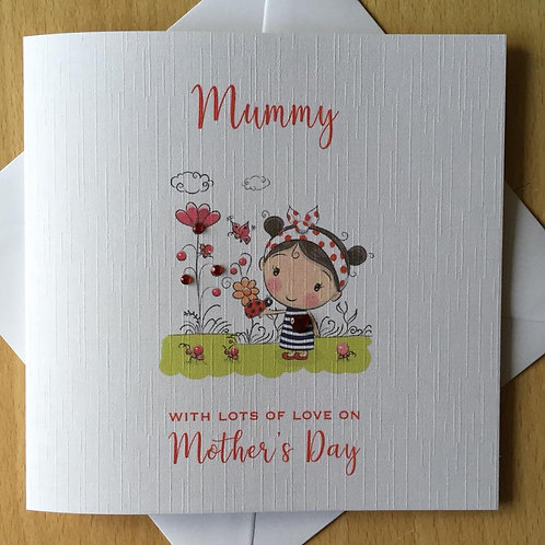 Handmade Mother's Day Card - Ladybird