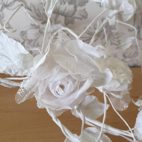 Rose Garland - Artificial Flowers - White