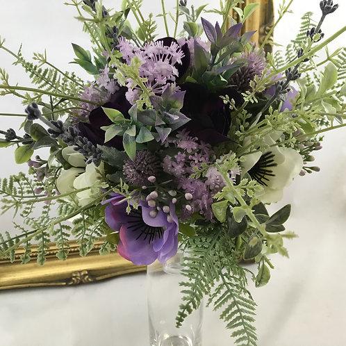 Wedding Bouquet - Lillie - Anemone & Foliage - Medium