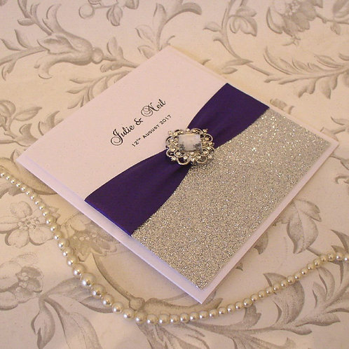 Wedding Invitation - Tara - Diamante Jewel