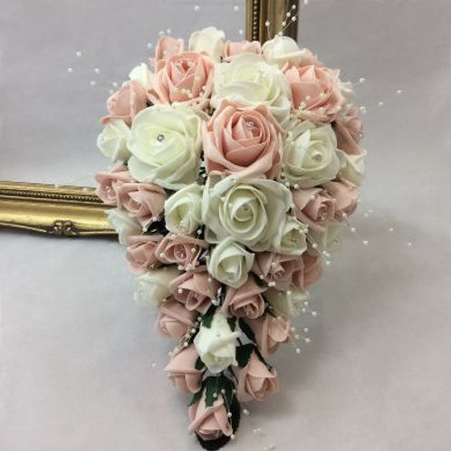 Wedding Bouquet - Princess Teardrop with Pearls