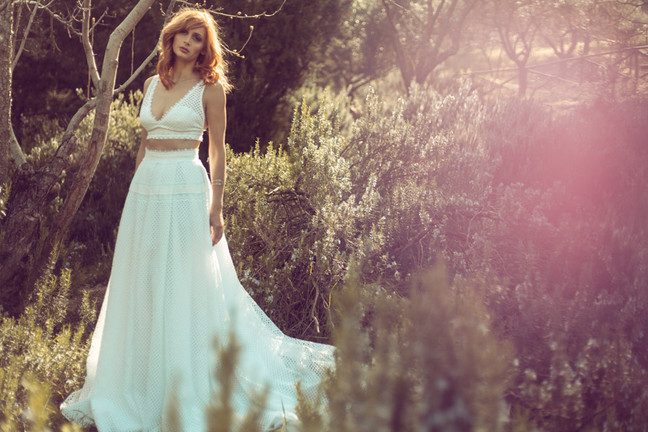 Το natural bridal look της Μαρίας Κωνσταντάκη στο Down Town