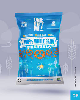 One Mighty Mill 100% Whole Grain Pretzels