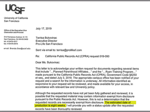 UCSF fails to comply with the local Freedom of Information Act - What ugly truth are they hiding?