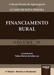 Financiamento rural - volume IV