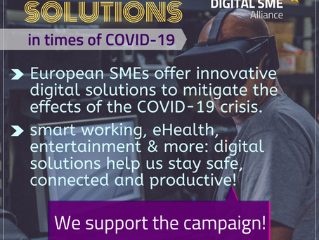 Amid the corona crisis, digital SMEs call on European Council for a 50% SME quota in EU's digital in