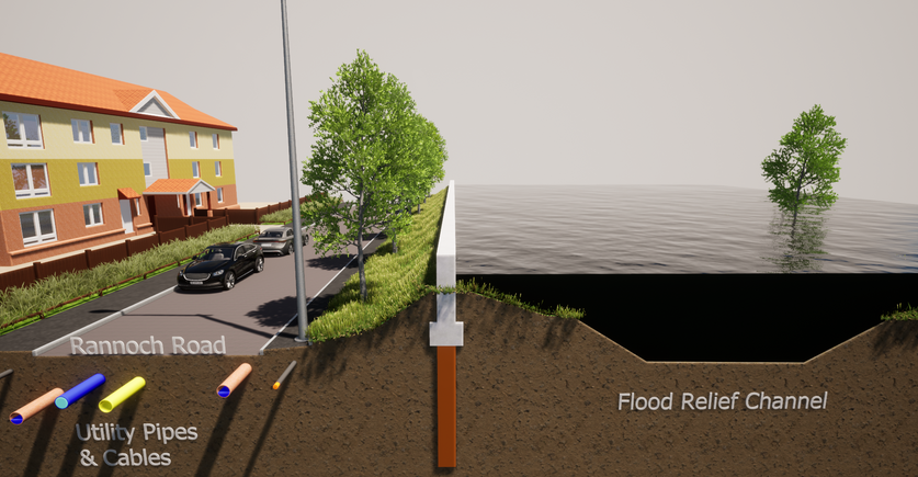Proposed Defences with Flooding