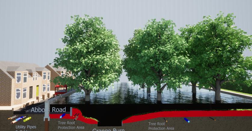 Abbots Road/ Zetland Park Alternative Defences to Retain Trees in Flood