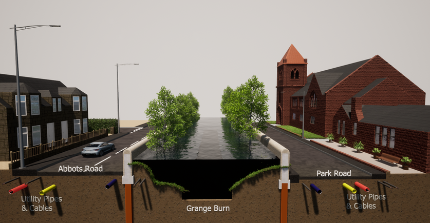Abbots Road/ Park Road Proposed Defences in Flood