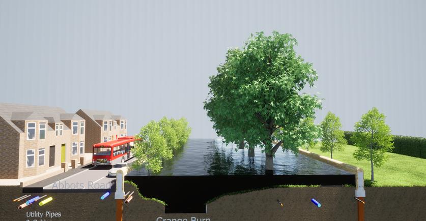 Abbots Road/ Zetland Park Proposed Defences in Flood