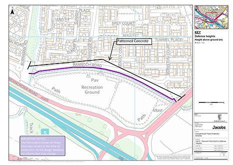 Rannoch Road  flood defence plan