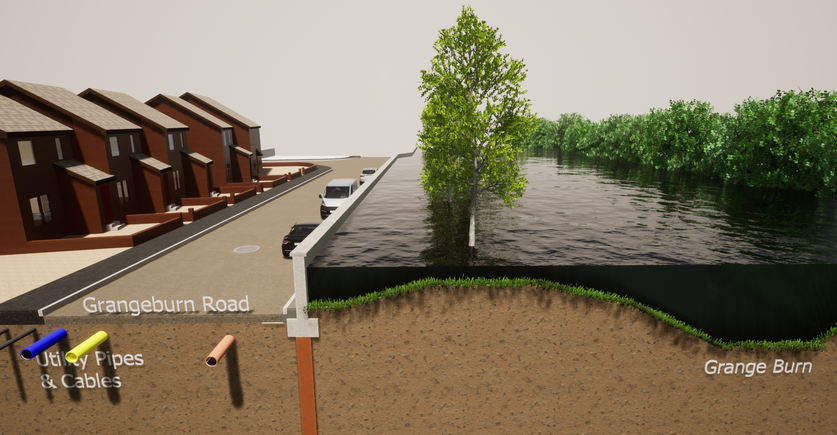 Alternative Defence Location with Flooding