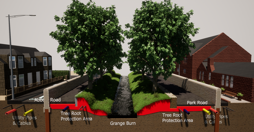 Abbots Road/ Park Road Alternative Defences to Retain Trees