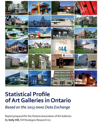 Statistical Profile of Art Galleries in Ontario