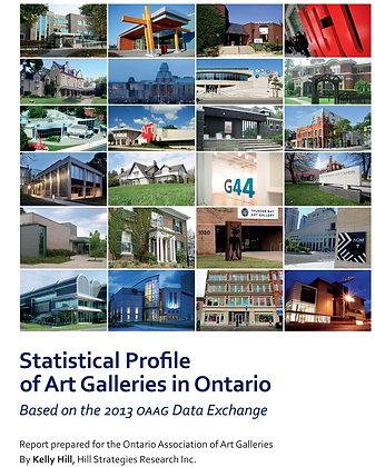 Statistical Profile of Art Galleries in Ontario