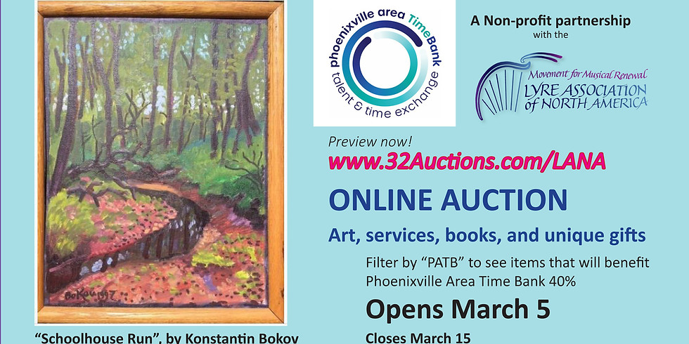 Charity On-Line Auction March 5-15th to help those in need