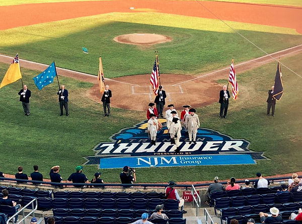 SRNJ Color Guard in Trenton on August 6,