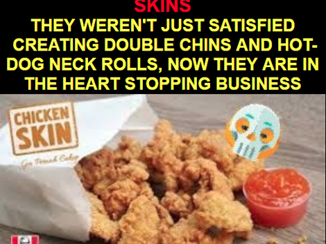 """KFC starts selling FRIED CHICKEN SKIN. AND RECIPES TO SATISFY BOTH YOUR """"GOOD"""" AND """"B"""