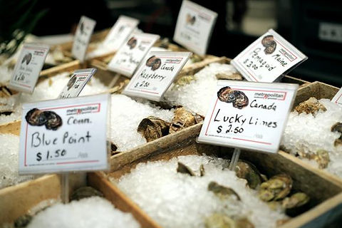 Metro offers over 20 types of oysters
