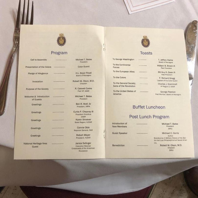 Menu Annual Meeting