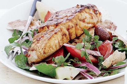 Chermoula Seared Barramundi with Avocado Fattoush
