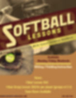 Candice Vanhorn Softball Lessons Flyer (