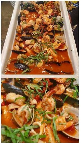 Shrimp Fra Diavolo served family style