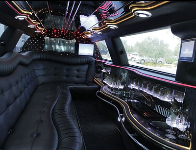 Interier of our stretch limo