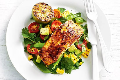 Barbecued Barramundi on a Grilled Corn Salad