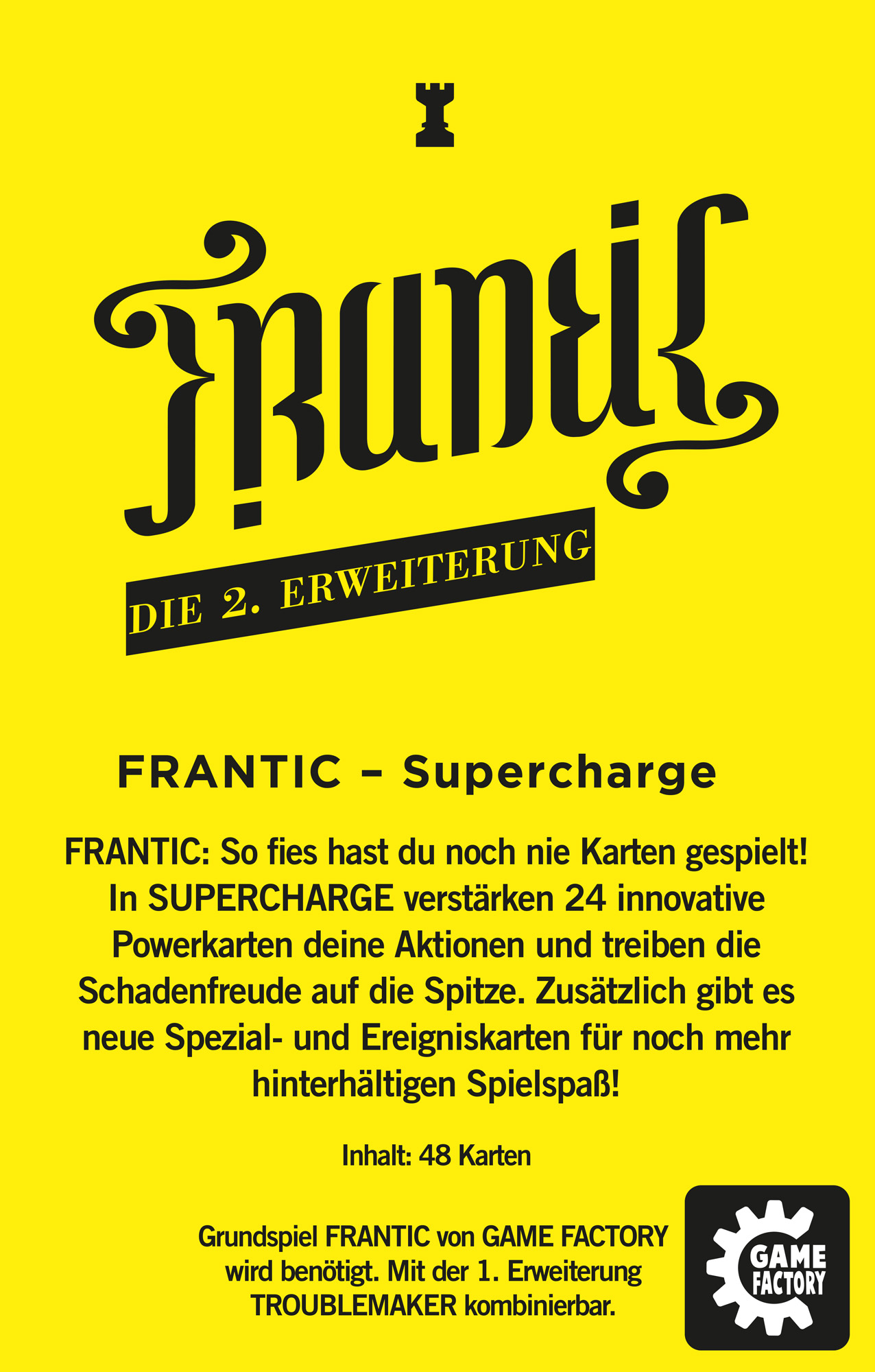 Rückseite Frantic Supercharge