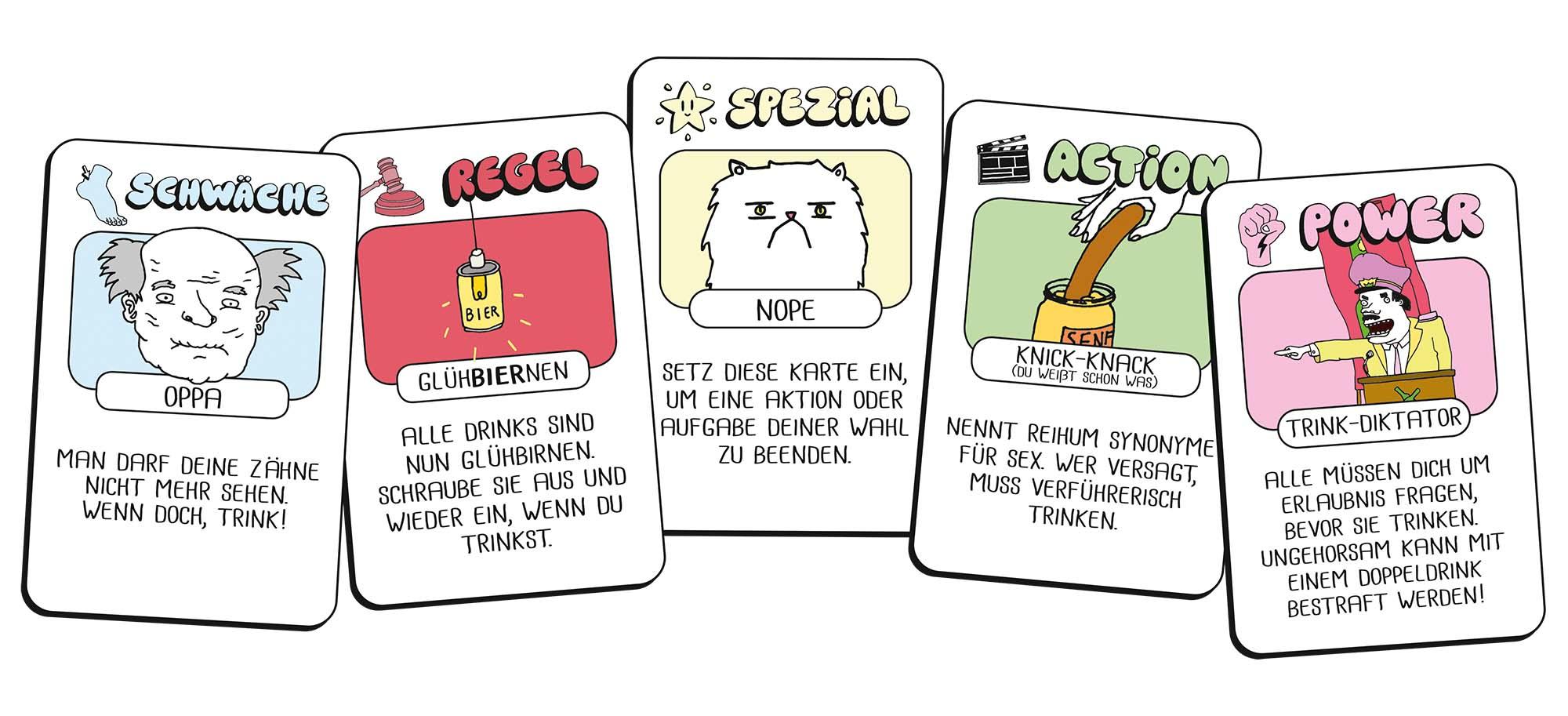 Drink Drank Drunk Karten
